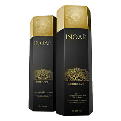 Inoar Moroccan Brazilian Keratin Treatment Blow Dry Hair Straightening 2 Litre