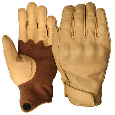 Weise Victory Short Leather Motorcycle Glove - Tan
