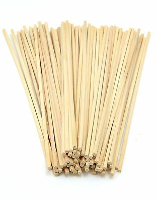 Candy Floss Sticks - food grade square-end birchwood (25 to 500 quantities)