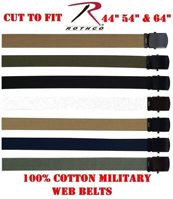 Military Web Belts 100% Cotton Military Wear Web Belts (YOU CUT TO FIT) 4294