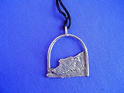 Scottish Deerhound Wolfhound necklace#16C Pewter Dog Jewelry by Cindy A. Conter