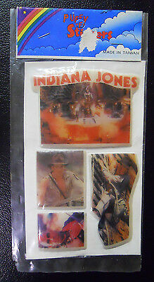 VINTAGE! STILL SEALED! 1984 Indiana Jones and the Temple of Doom Puffy Stickers