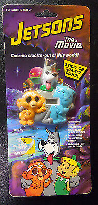 VINTAGE! STILL SEALED! 1990 Jetsons: The Movie Stick-On Clock-Astro and Friends