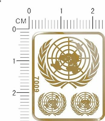 chrome(metal) decals United Nations (Golden)  7009