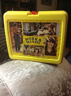 Mork and Mindy plastic lunch box and thermos robin williams rare vintage