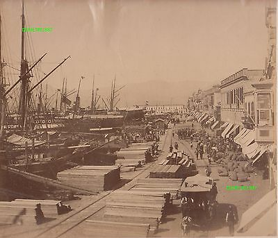 Albumin Foto - Smyrna Izmir Türkei Turkey - vintage photo - 1880 / 1890 !
