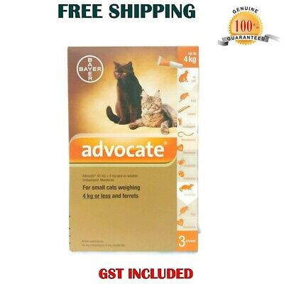 Advocate for Cats and Small Kittens up to 4kg 3 pack Flea and Tick Treatment