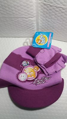 Zhuzhu Pets Cold Weather Set Purple New With Tag Hat And Gloves One Size Striped