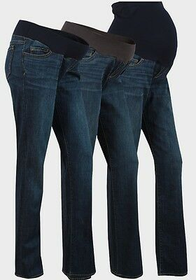 Maternity Bootcut Jeans Over & Under The Bump Liz Lange Range Sizes 8-22 (New)