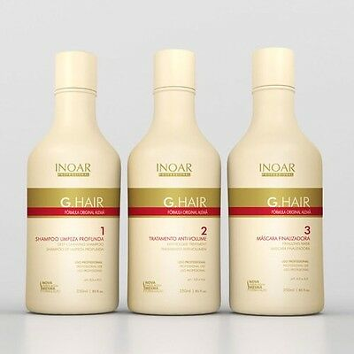 Inoar G Hair Brazilian Keratin Treatment Blow Dry Hair Straightening 750Ml Kit