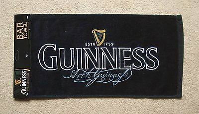 New Guinness Signature Pub Home Bar Beer Drinks Drip Towel 100% Cotton Unused