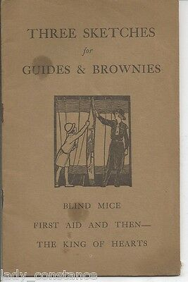 Three Sketches for Guides Brownies Girl Guide A 1930s?