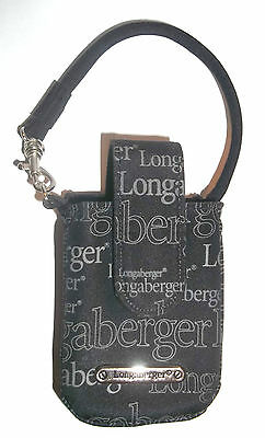 Longaberger Black Signature Cell Phone Carrier