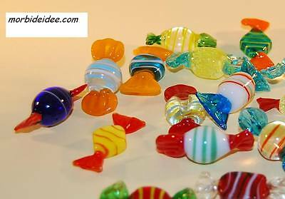 18 SWEETS 1.2 inch Murano glass DIRECT from ITALY by MORBIDEIDEE Venice