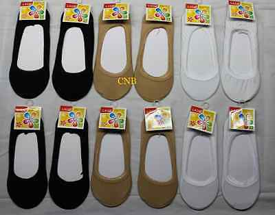 3 pairs Flat Socks O No Show Foot Liner Low Cut Loafer Ballet Shoes *US Seller*