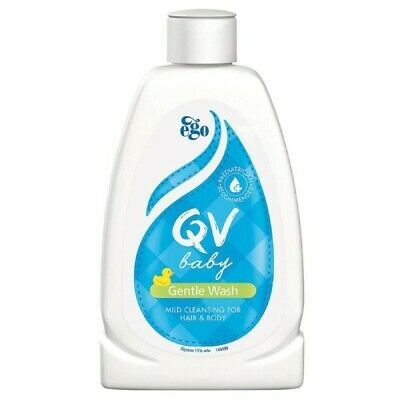 Ego Qv Baby Gentle Wash 250G Mild Cleansing For Hair & Body Soap Fragrance Free