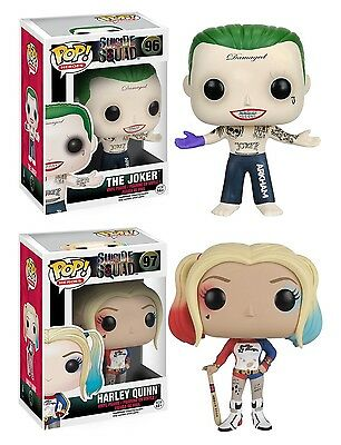 Funko Pop! Suicide Squad #96 The Joker + #97 Harley Quinn Vinyl Figure set of 2