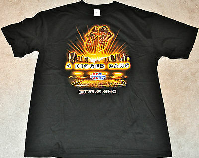 Rolling Stones Bigger Bang Super Bowl Xl Black S/s T-Shirt Steelers Seahawks