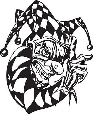 CLASSIC Ripped Open Torn Metal Rip Scary Evil Horror Clown Vinyl - Car sticker designripped open gash torn metal design with evil eye monster looking