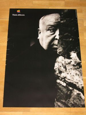APPLE THINK DIFFERENT POSTER - ALFRED HITCHCOCK 24 x 36 by STEVE JOBS 61 x 91 CM