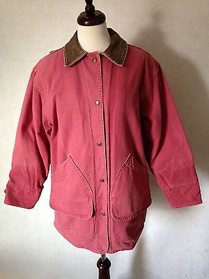 Vtg Woolrich Barn Coat Sz Small Wool Indian Blanket Liner Canvas Cotton Red