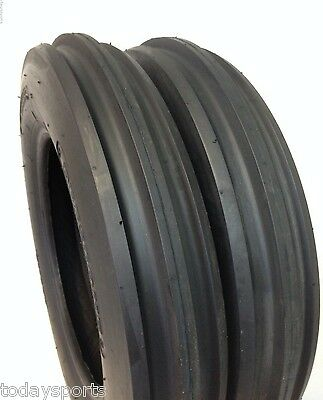 TWO NEW 5.00-15 TRACTOR TIRES 5.00x15, 3 Rib F2 Tractor Farm 2 TIRES 500-15