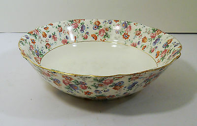 Dorset Cheery Chintz For Erphila China Germany Round Salad / Vegetable Bowl