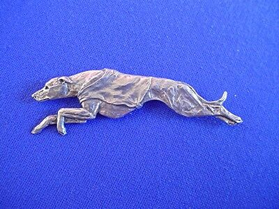 Whippet Greyhound Coursing Racing Pin #11H Pewter Dog Jewelry by Cindy A. Conter