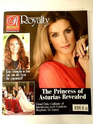 ROYALTY  Magazine,  Dated November / December 2012, Very Good Condition