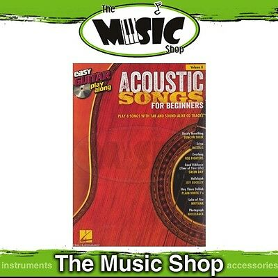 New Acoustic Songs for Beginners Easy Guitar Play Along Book & CD - Volume 8