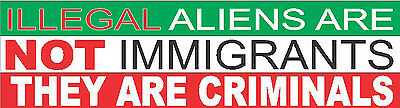 bumper sticker illegal immigrants SP-9B