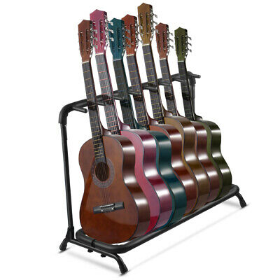 Guitar Stand 7 Holder Folding Stand Rack Band Storage Bass Electric Acoustic