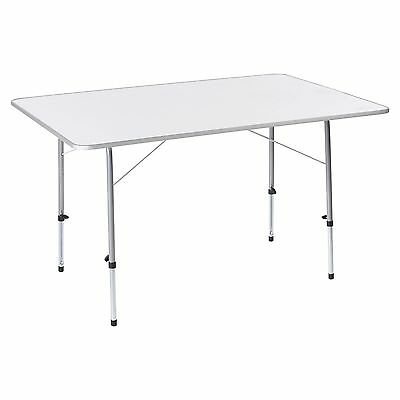 Kathmandu Maison Outdoor Camping Adjustable Leg Folding Solid Top Table Grey