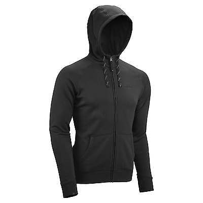 Kathmandu Mens DriCotton Full Zip Hoodie Warm Hooded Fleece Jacket Black