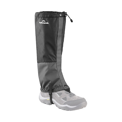 Kathmandu Hiking Walking Waterproof Elasticated Long Leggings Gaiters Black