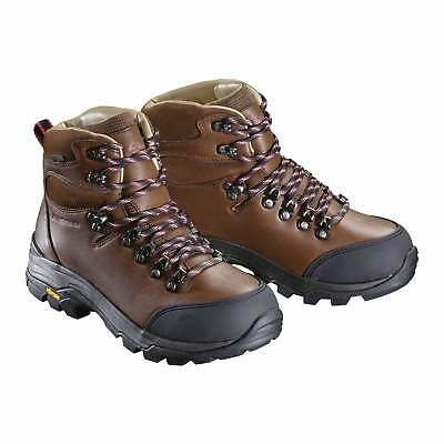 Kathmandu Tiber Womens NGX Water Resistant Leather Hiking Boots Shoes Brown
