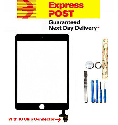 For Apple iPad Mini Black Digitizer Front Touch Replacement Screen IC Chip