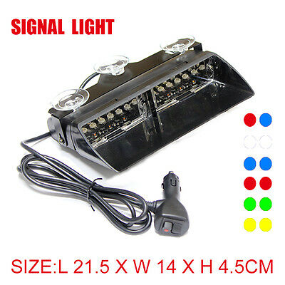 16W 16LEDS Car Truck Emergency Strobe Flash Light Super Bright All Colour