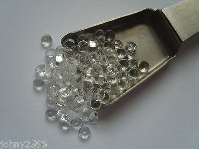 2mm natural white topaz gemstone round cut 2 for £1.00.