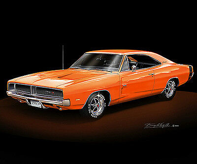 Dodge Charger 1969 fine art poster by artist Danny Whitfield