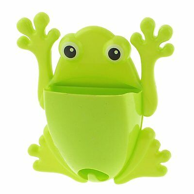 Frog Toothbrush Holder with 4 Suction Cups (Green) SP