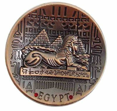 Metal Egyptian Sphinx Pyramids Ancient Fridge Magnet Engraved Hieroglyphic  206