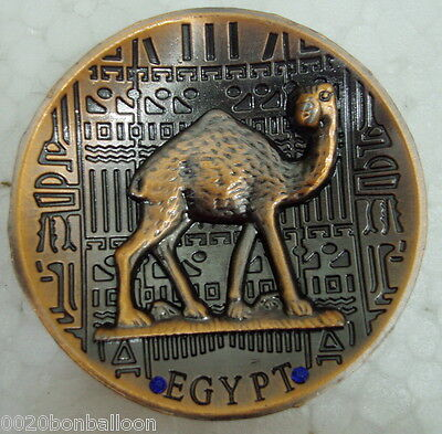 Metal  Egyptian Camel Ancient  Fridge Magnet Handmade Engraved Hieroglyphics 206