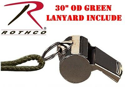 Safety Whistle Emergency Military Style OD Olive Drab Green Rothco 8300