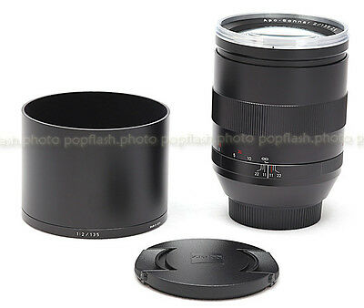 ZEISS 135MM F/2.0 ZE APO SONNAR T* CANON EF MOUNT LENS USA USED-MINT