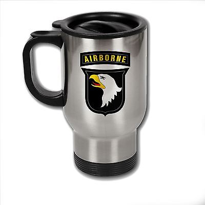 Stainless Steel Mug with U.S. Army 101st Airborne Division  insignia
