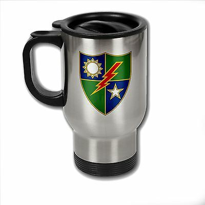 Stainless Steel Mug with U.S. Army 75th Ranger Regiment (Airborne)  insignia