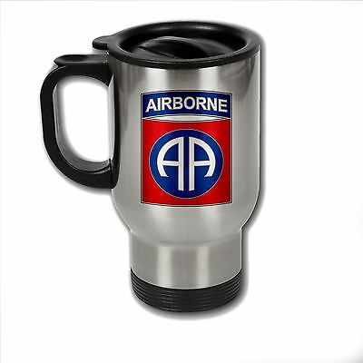 Stainless Steel Mug with U.S. Army 82nd Airborne Division