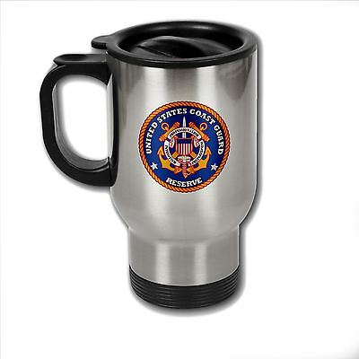 Stainless Steel Mug with U.S. Coast Guard Reserve seal