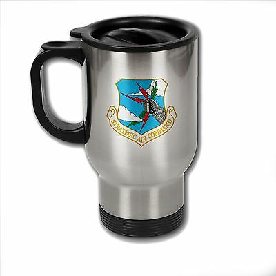 Stainless Steel Mug with U.S. Strategic Air Command obsolete emblem